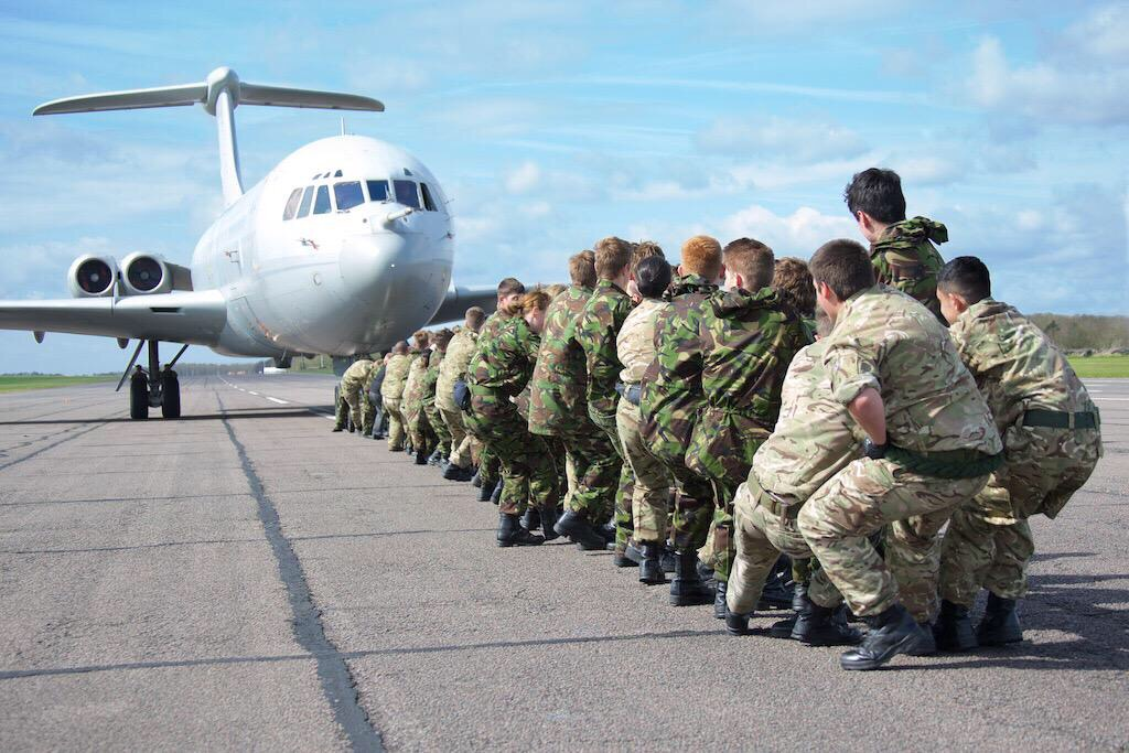 Leicestershire Air Cadets pull together to move 63 tonnes ...